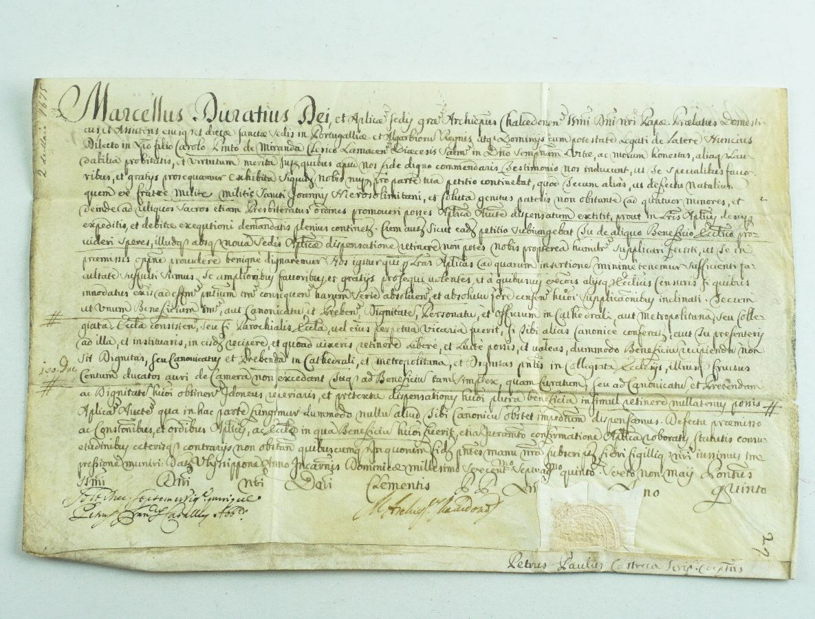 Manuscrito do Cardeal Marcello Durazzo – 1675
