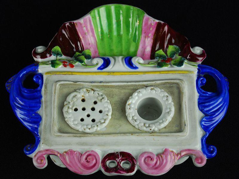 Tinteiro em Porcelana Europeia