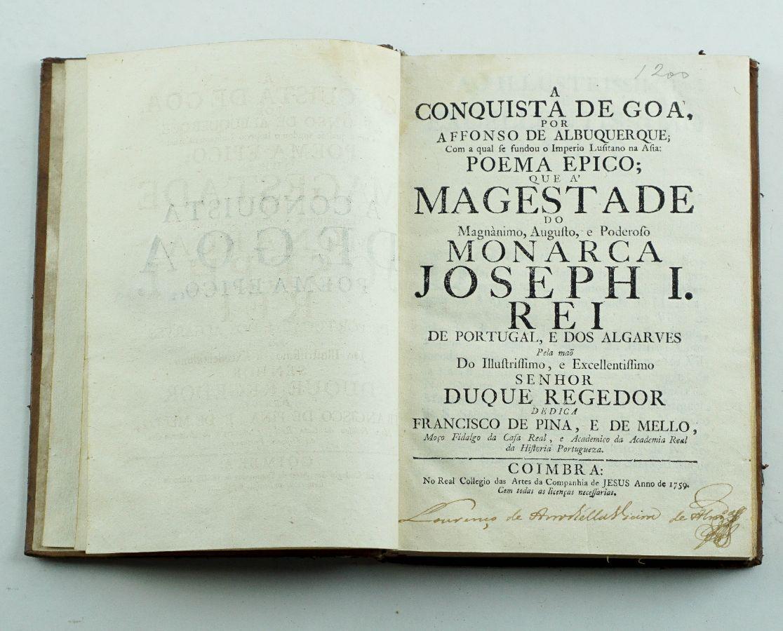A conquista de Goa por Affonso de Albuquerque - 1759