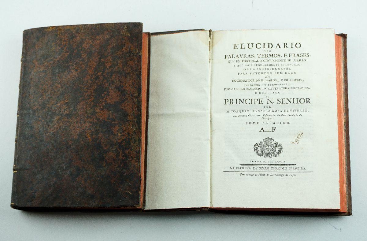 Elucidário das Palavras Antigas de Portugal - 1ª edição 1798-1799