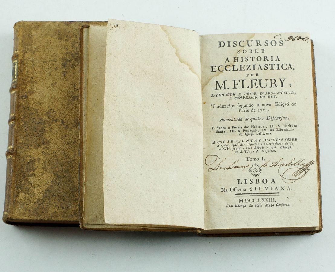 Discurso sobre a História Eccleziastica por M. Fleury – 1773