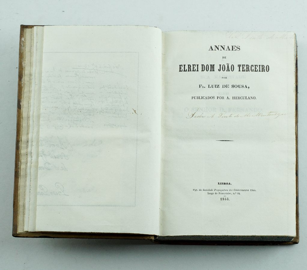 Annaes de El Rei Dom João Terceiro, Alexandre Herculano – Primeira edição