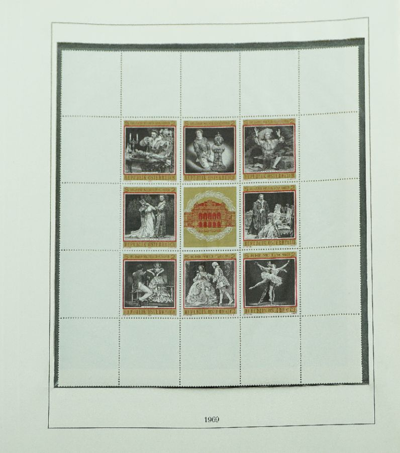 Filatelia Áustria - Completa de 1960 a 1980