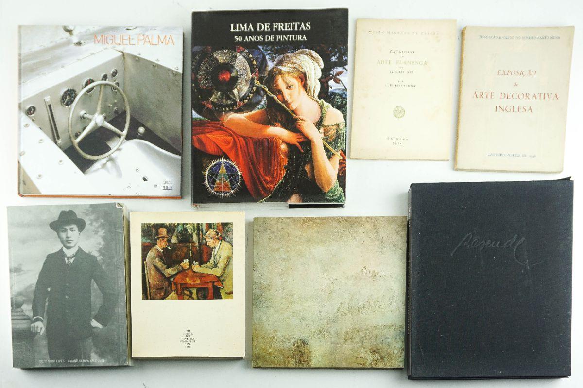 8 Livros/Catálogos de Artistas e Arte