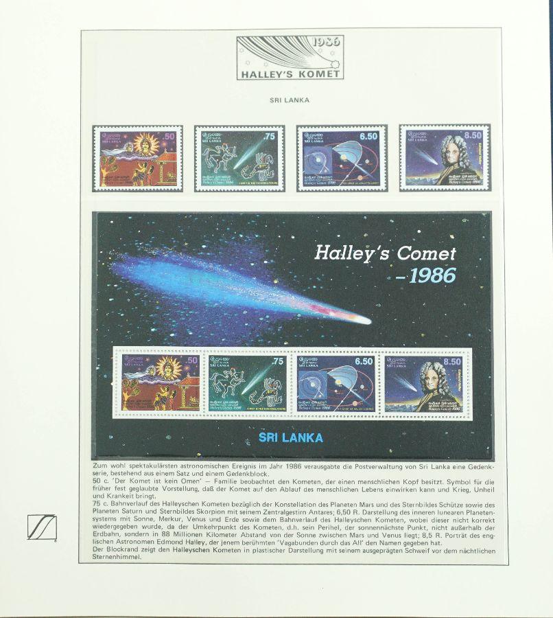 """Filatelia Temática de Todo o Mundo - """"O Cometa Halley"""""""