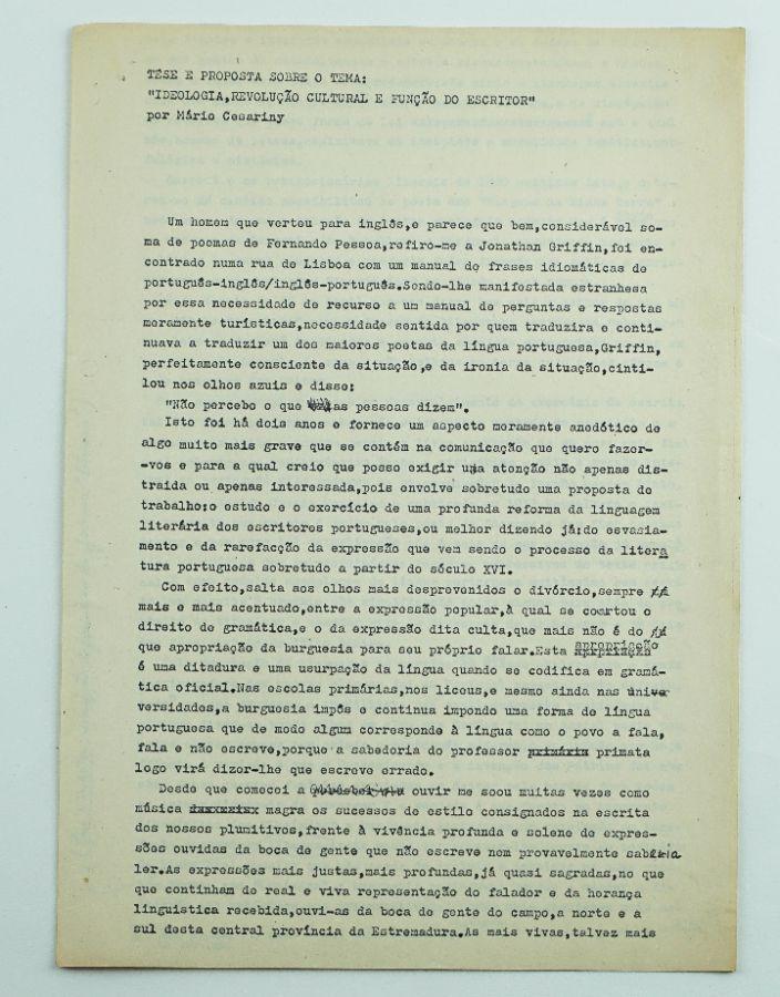 Publicação Mario Cesariny