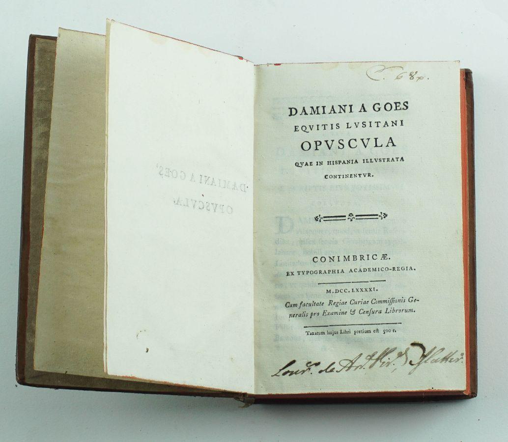 Rara obra sobre Damião de Goes – 1791
