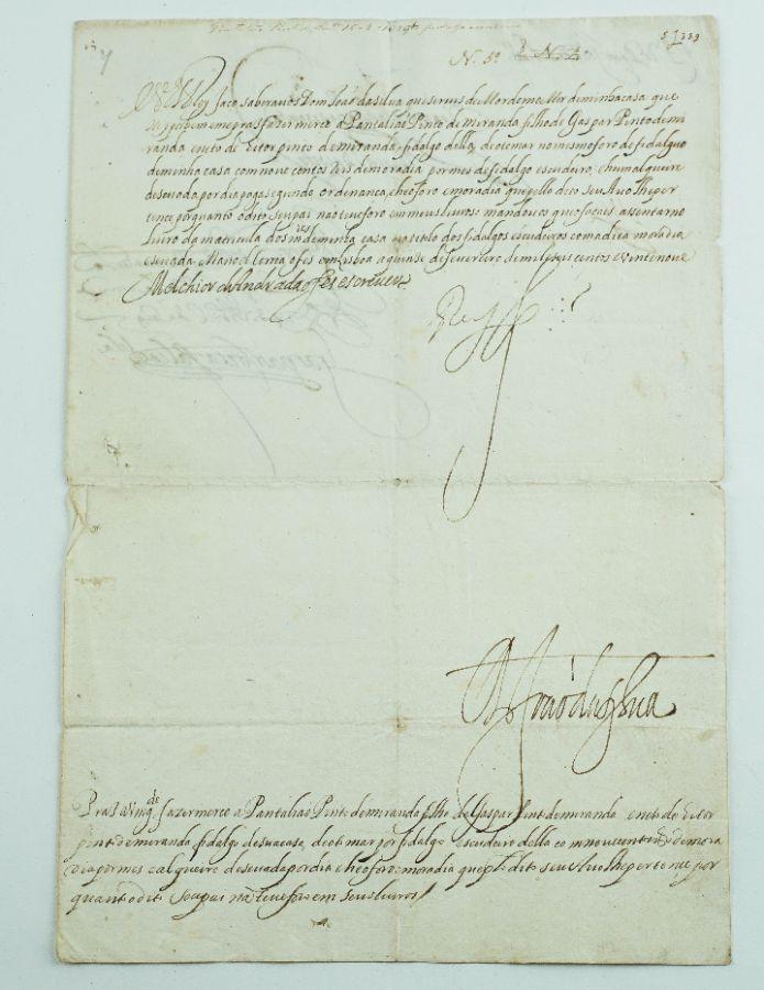 Manuscrito Rei D. Filipe IV de Espanha (III de Portugal) – 1629