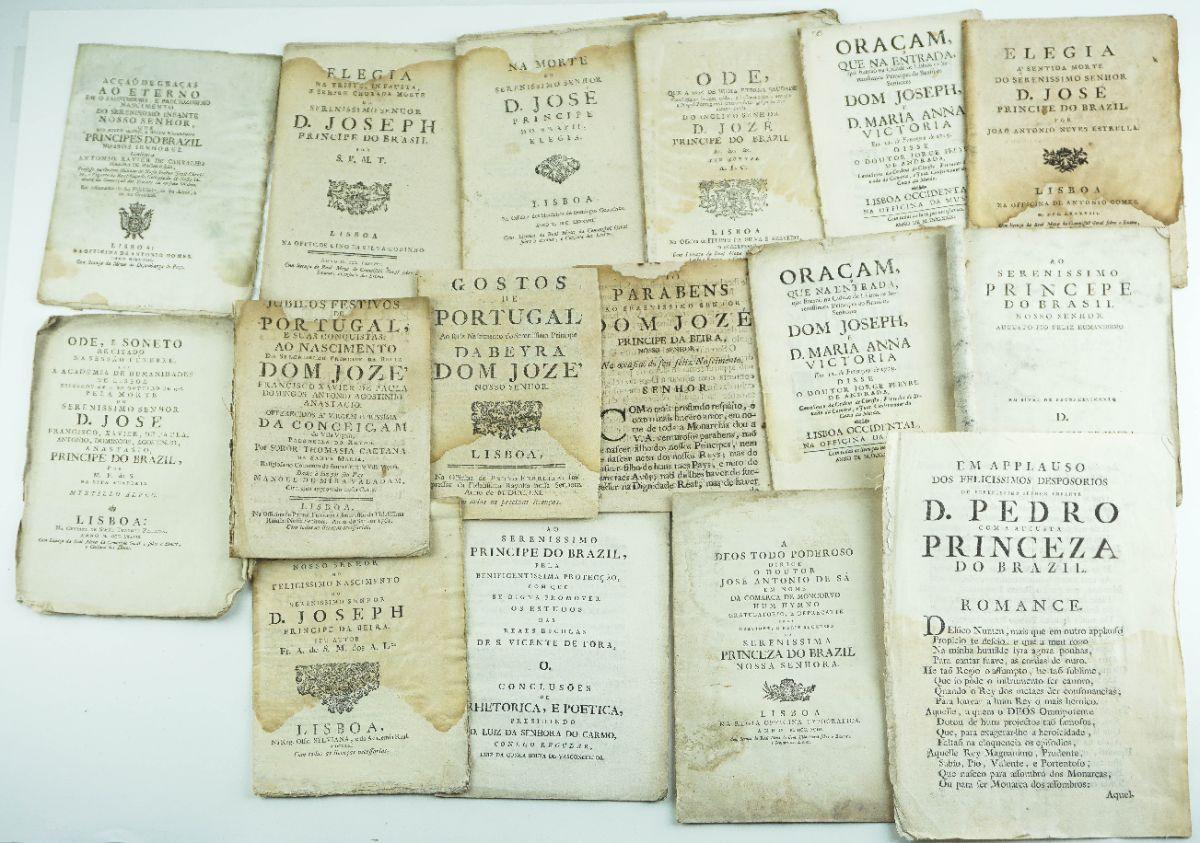 Publicações sobre D. Jozé Príncipe do Brazil sec XVIII