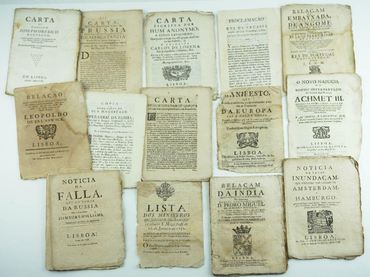 Publicações sobre acontecimentos diversos no séc. XVIII