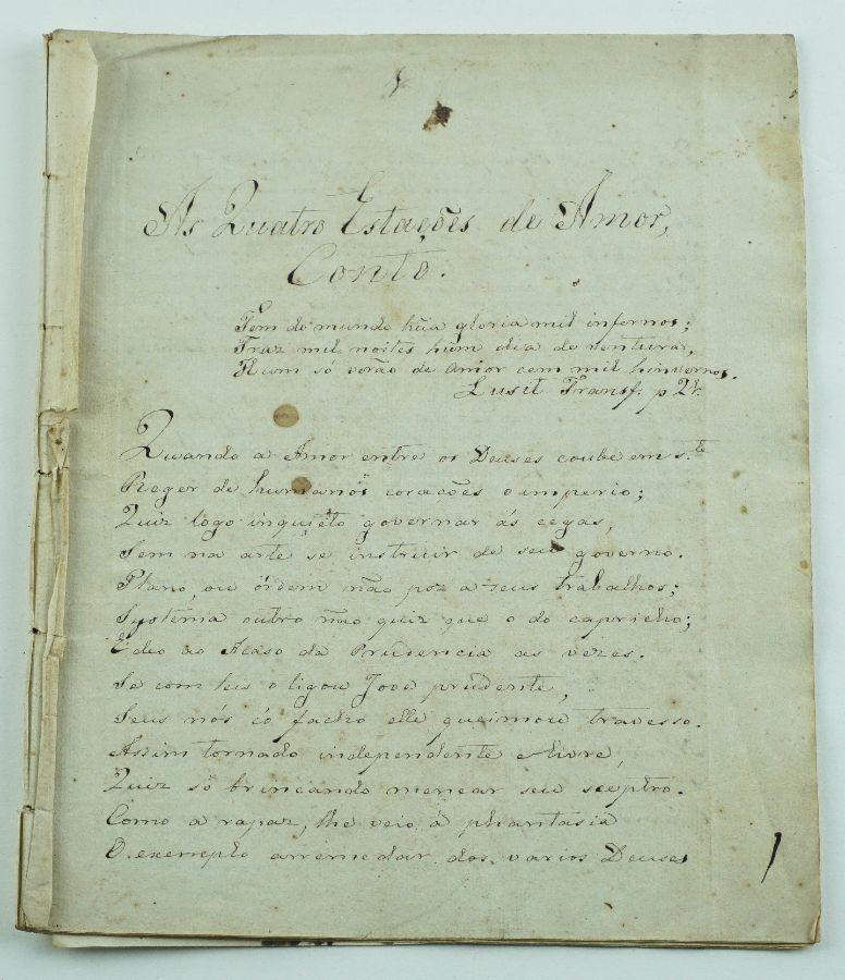 As Quatro Estações de Amor – Manuscrito séc. XVIII