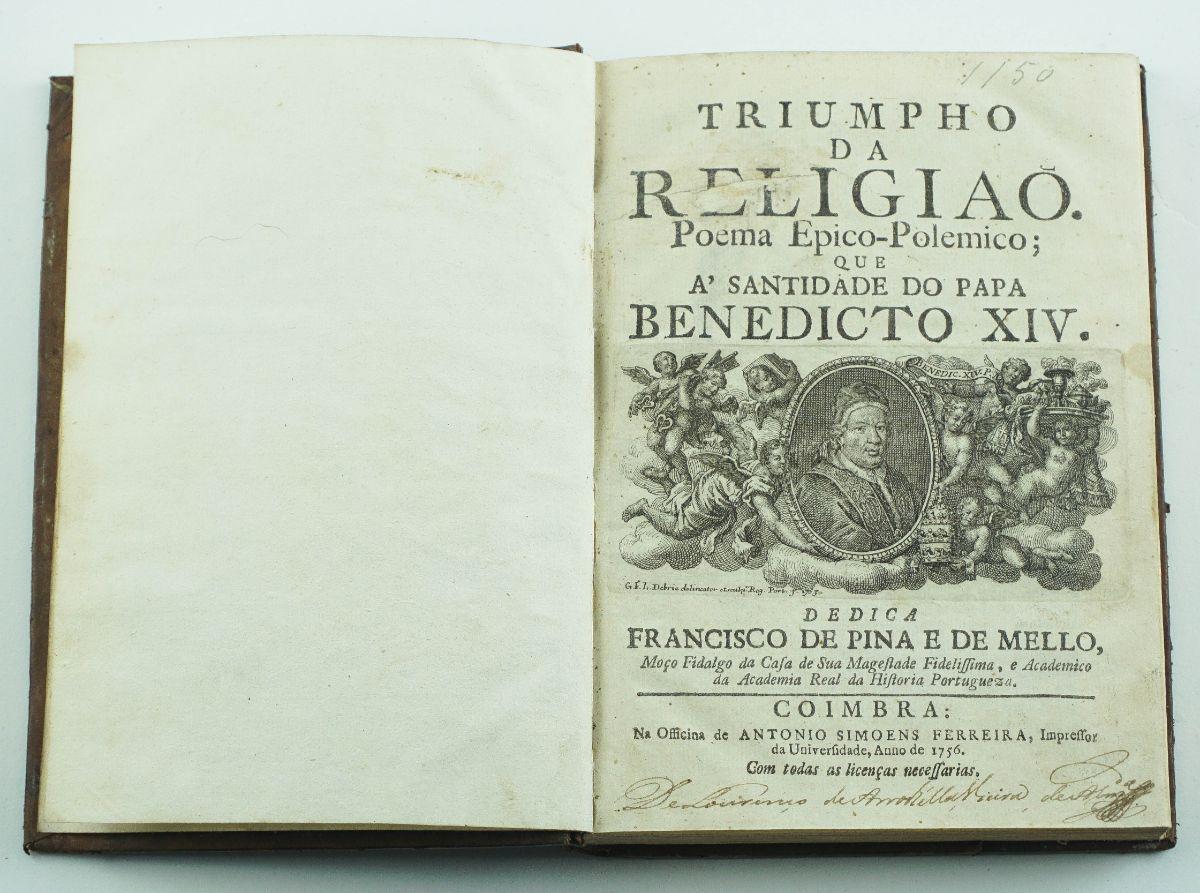 Triumpho da religião Poema Epico-Polemico – Exemplar único