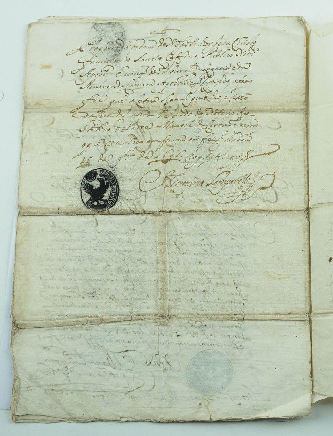 Manuscrito sobre o Direito do Padroado da Igreja de Santa Marinha de Real, 1694