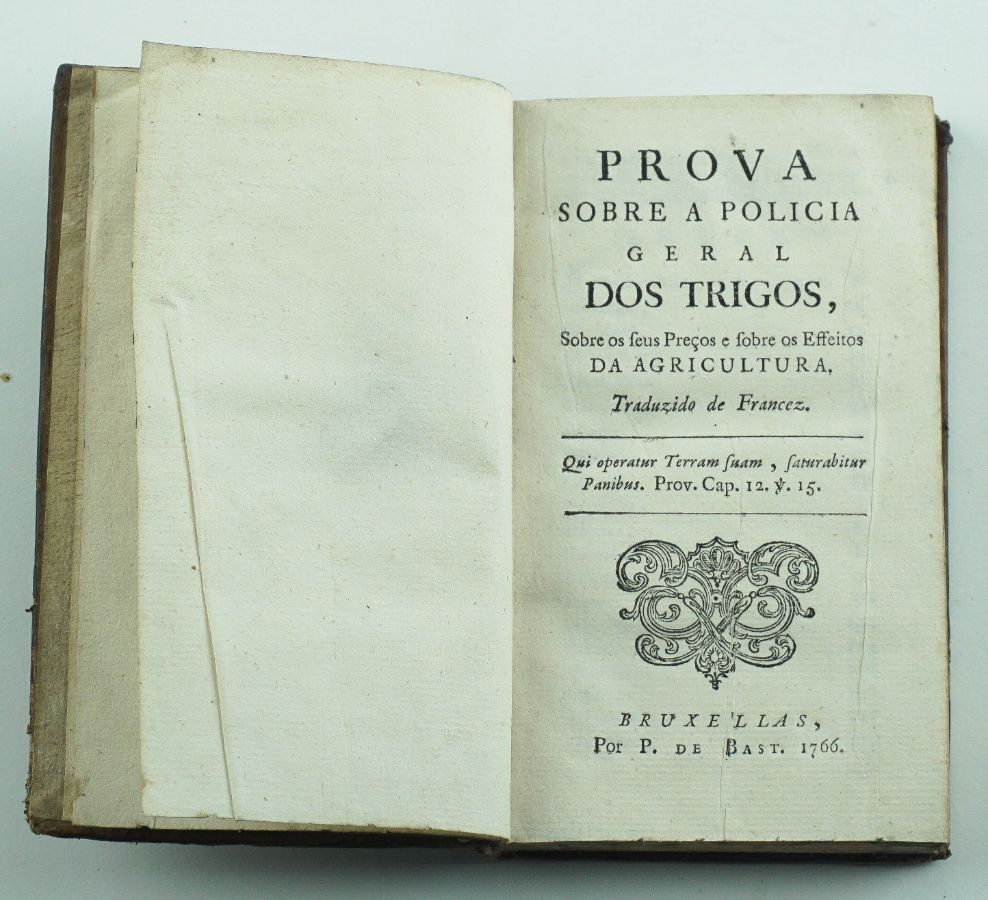 Prova Sobre a Policia Geral dos Trigos – 1766