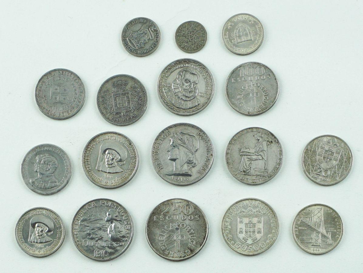15 Moedas Portuguesas em Prata