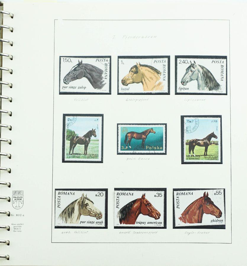 """Filatelia Temática de Todo o Mundo - """"Animais/Cavalos"""""""