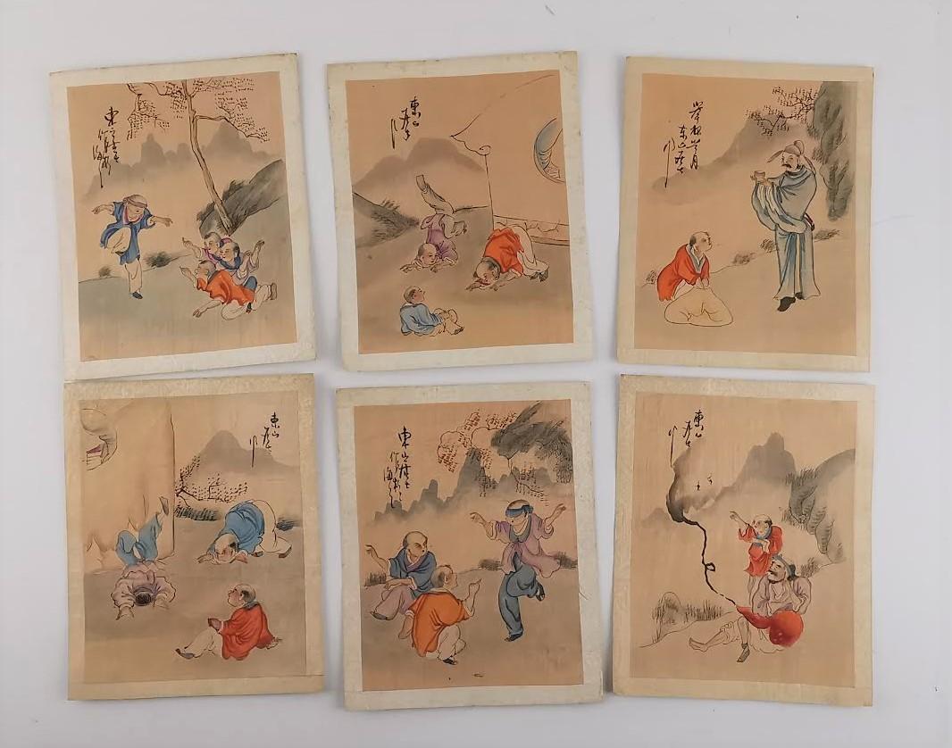 6 Desenhos aguarelados Japoneses
