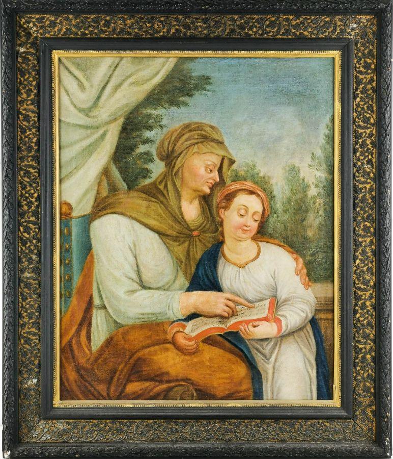 Santa Ana ensinando Nossa Senhora a ler