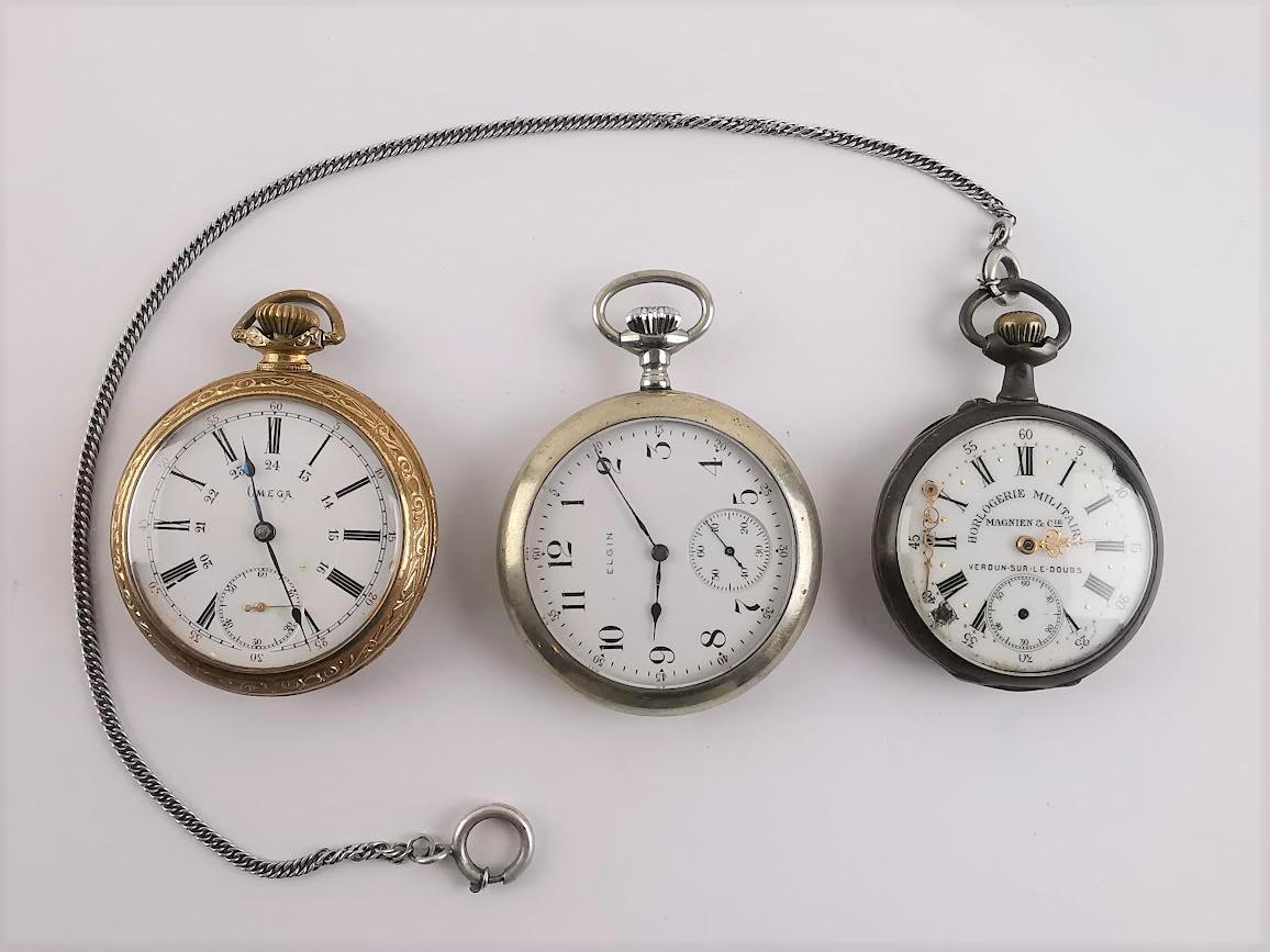 3 Relógios de bolso