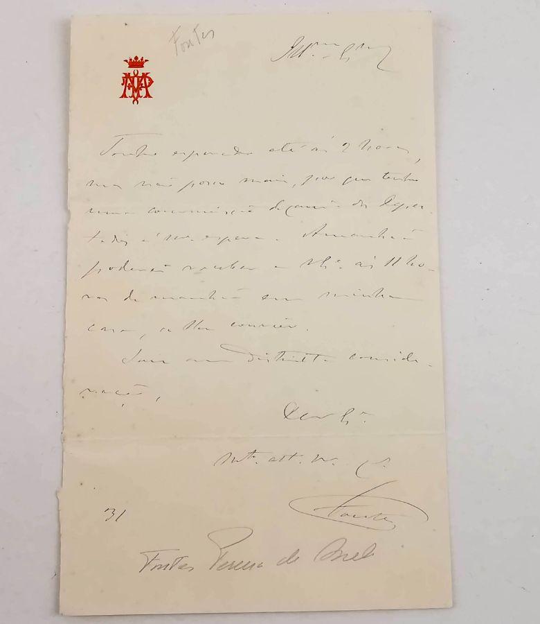Manuscrito Fontes Pereira de Melo