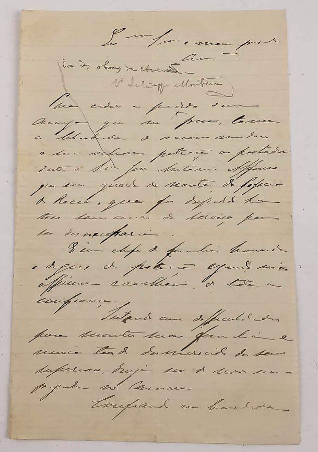 Manuscrito de Manuel D'Arriaga