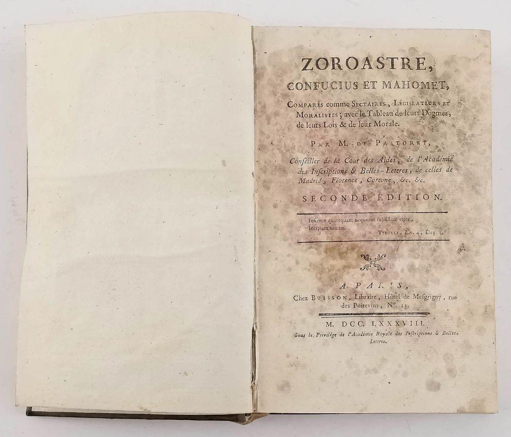 Zoroastre – Confucius et Mahomet – 1788