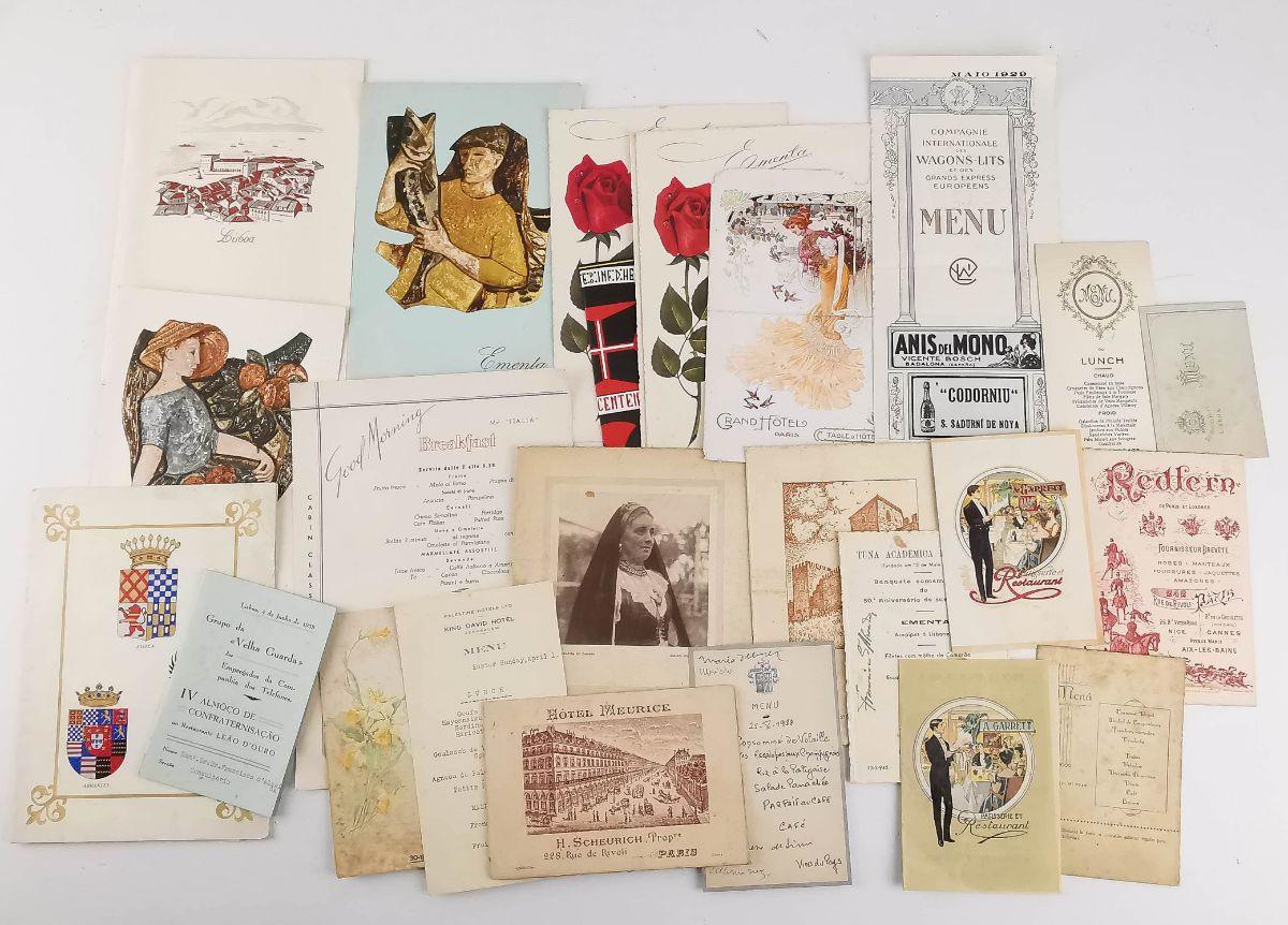 Colecção de Menús séc. XIX e XX