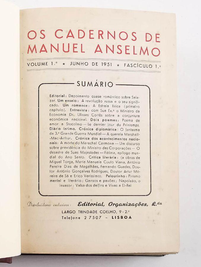Os Cadernos de Manuel Anselmo (1951-1961)
