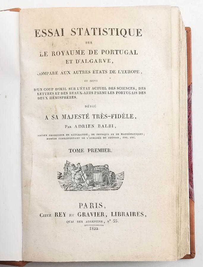 Adriano Balbi, Ensaio Estatístico sobre o Reino de Portugal (1822)