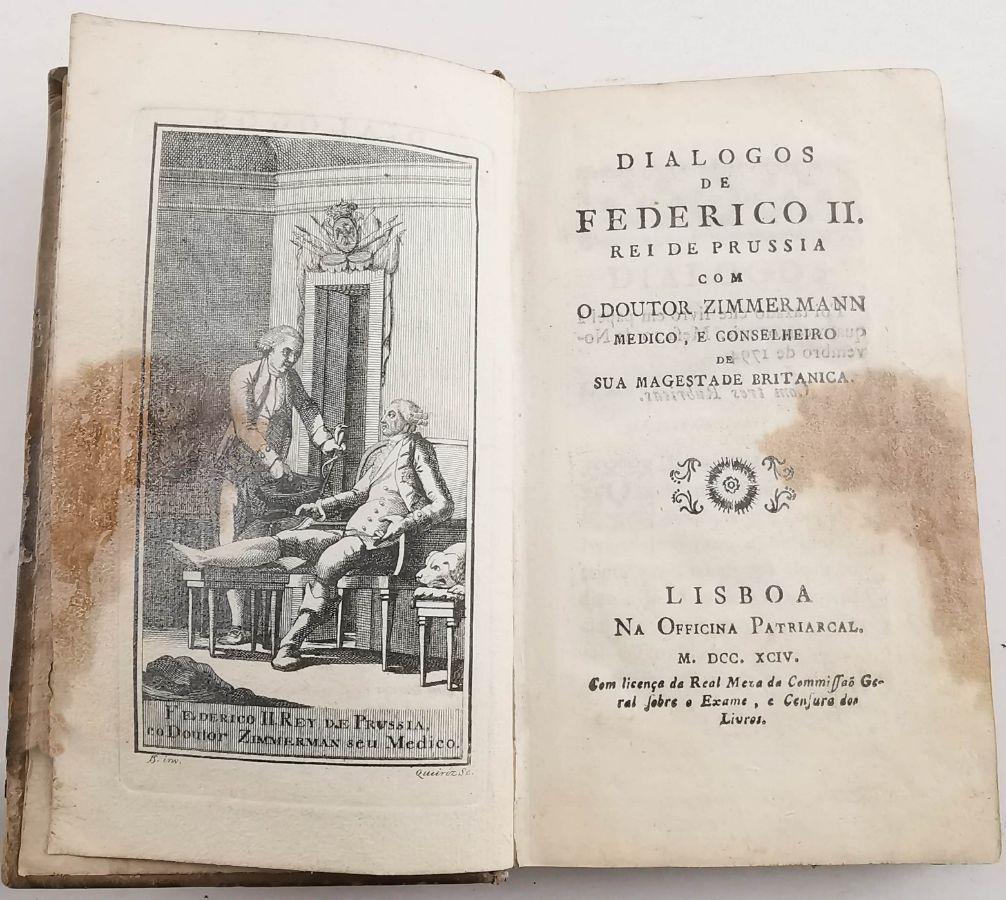 Curioso livro sobre Frederico II da Prússia (1794)