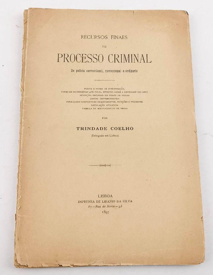 1ª edição de Trindade Coelho
