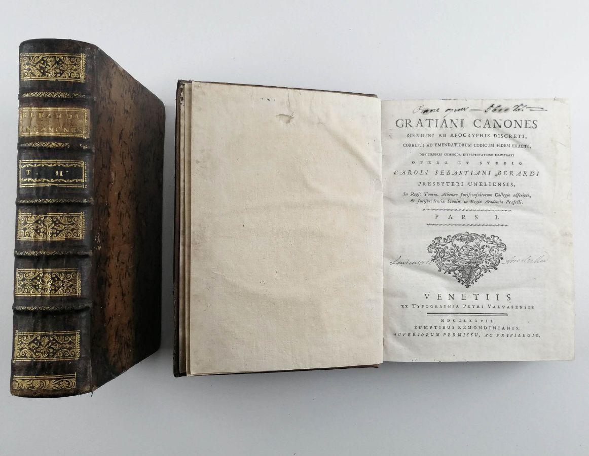 Gratiani Canones Caroli Sebastiani Berardi – 1777