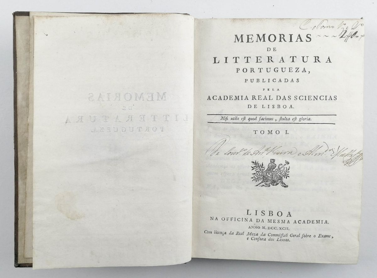 Memórias de Literatura Portuguesa 1792-1814