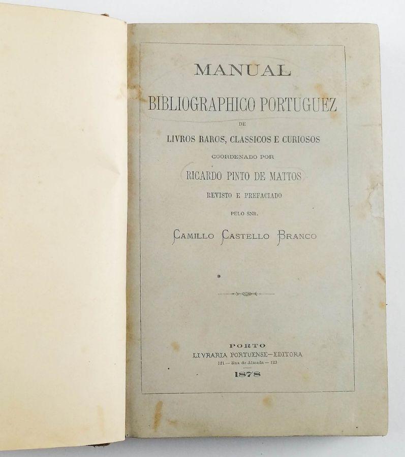 Camillo Castello Branco – Primeira edição