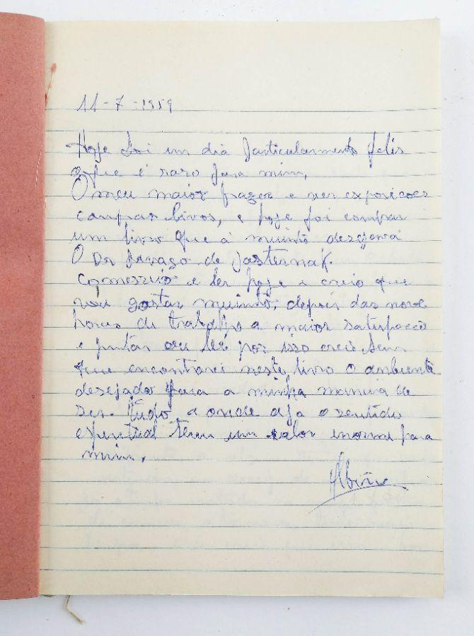 Albino Moura – diario manuscrito anos 50/60