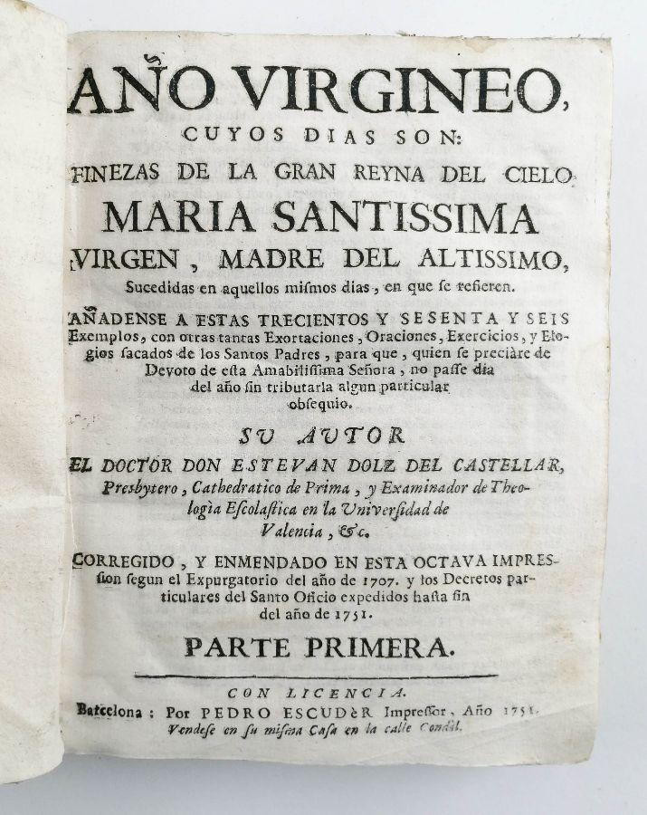 Ano Virgineo Maria Santissima, 1751