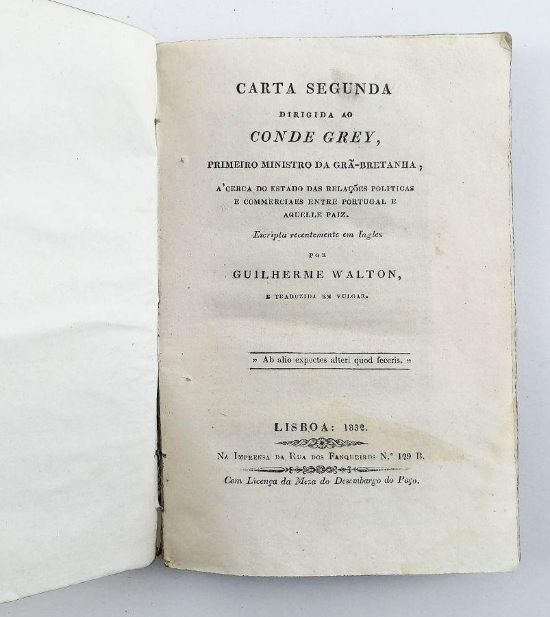 Carta segunda dirigida ao Conde Grey
