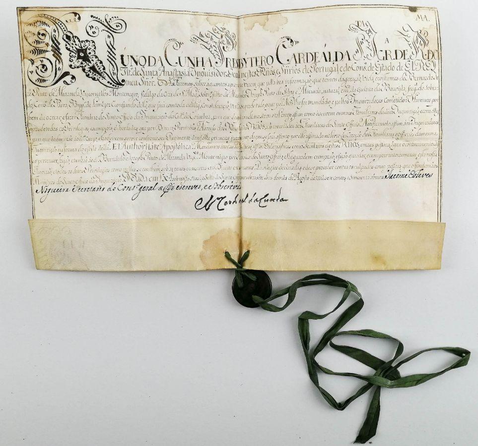 Pergaminho de Inquisidor Português, 1751