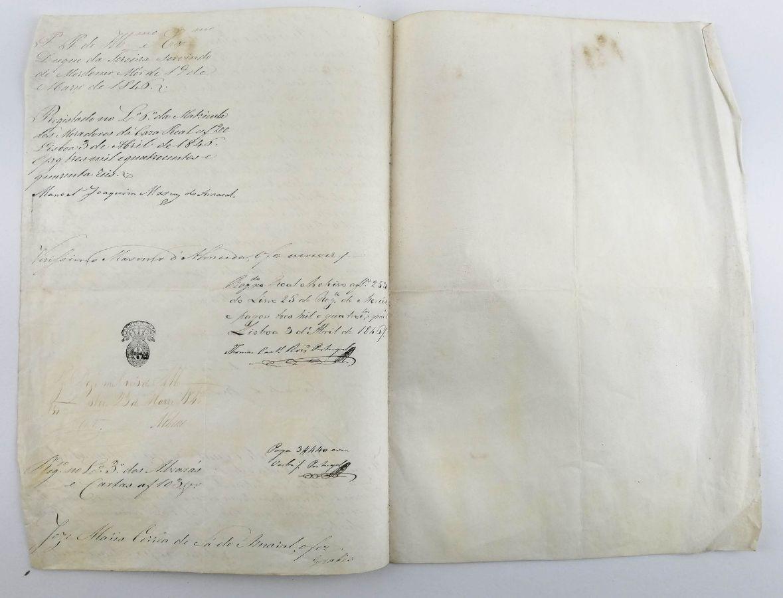 Manuscrito Rainha D. Maria II