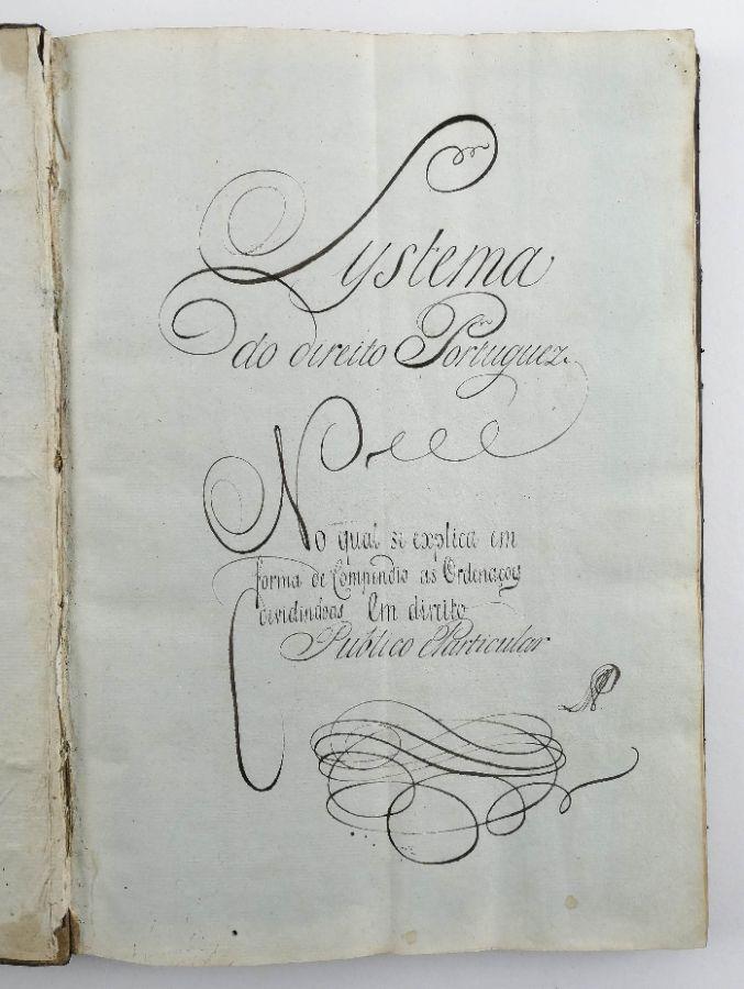 Manuscrito de Livro de Direito do séc XVIII