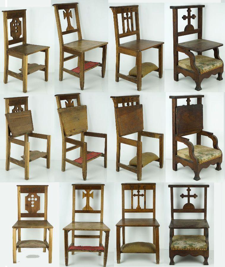 4 Cadeiras Genuflexórias
