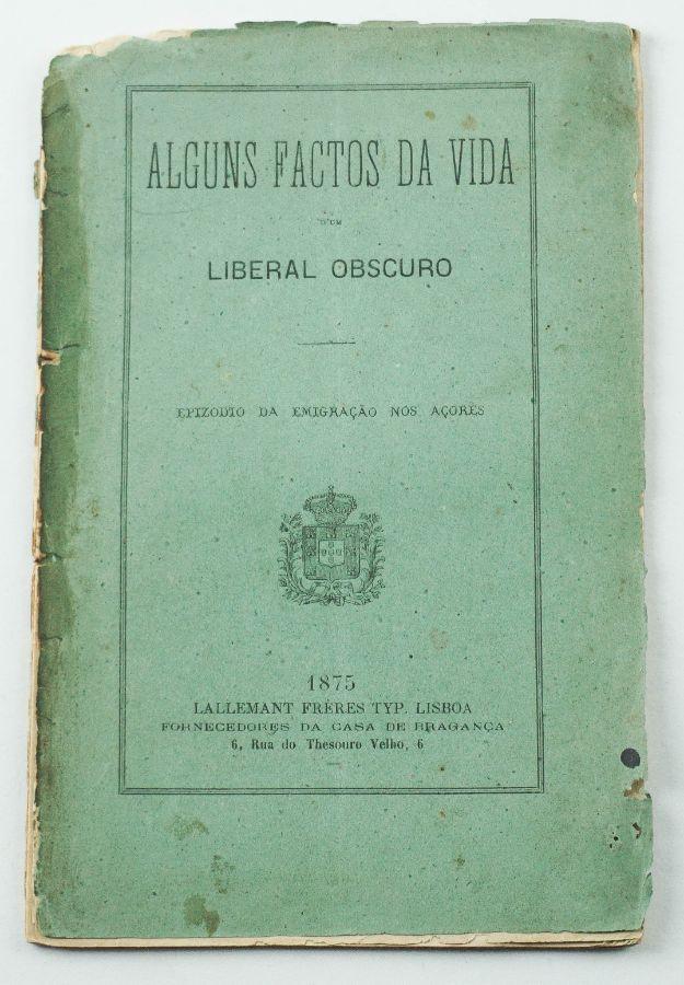 Raro livro sobre um liberal nos Açores