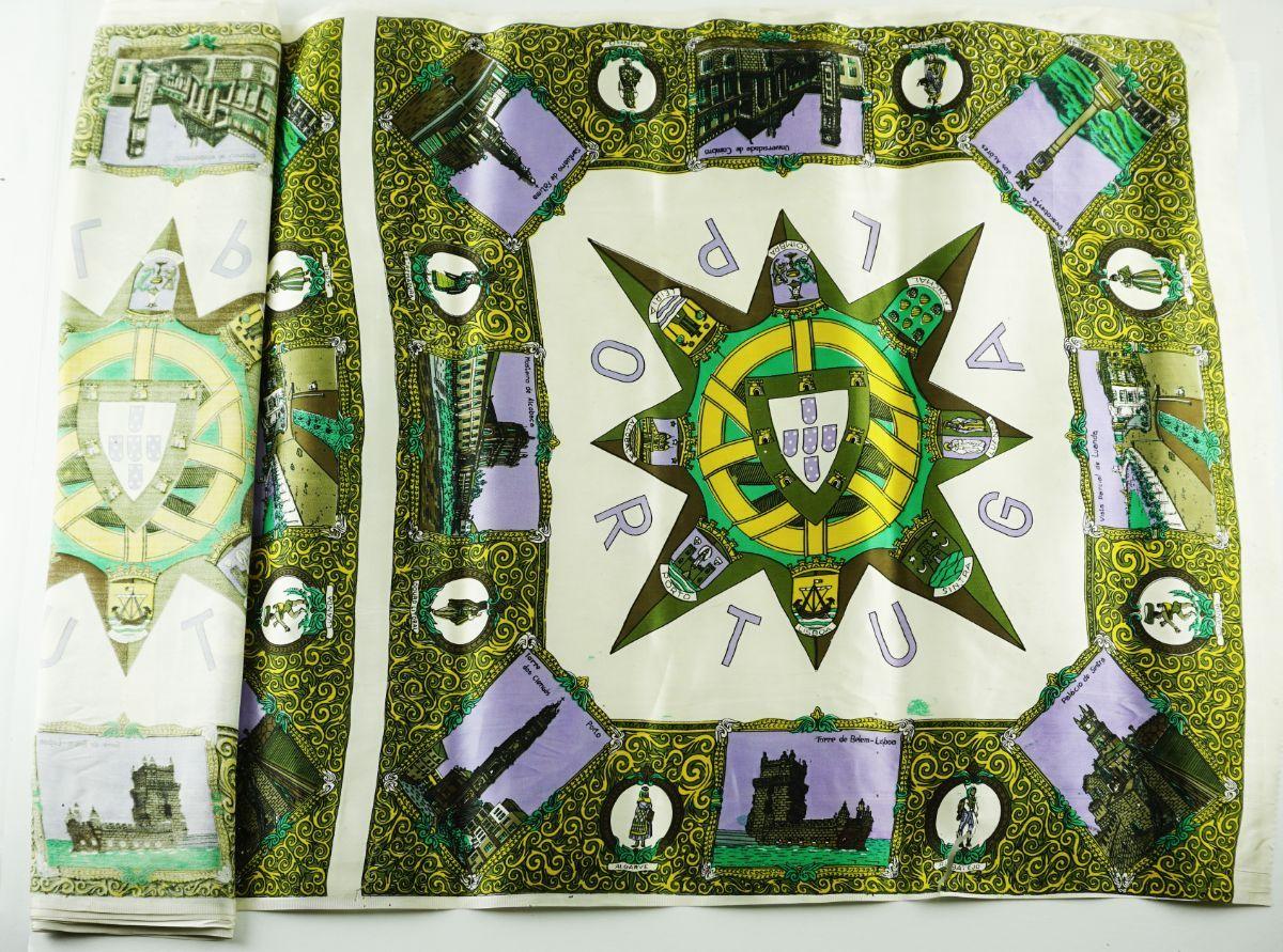 Peça de seda portuguesa publicitária anos 30