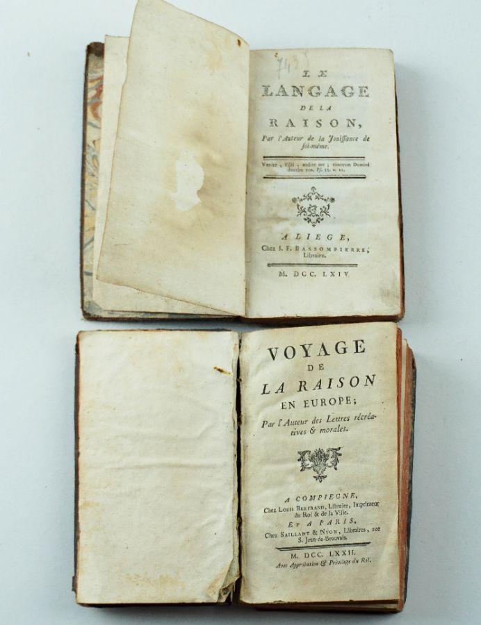 Dois Livros Voyage de la Raison en Europe (1771)e La Langage de la Raison (1763)