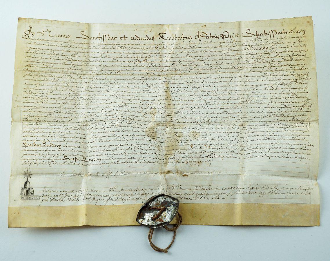 Pergaminho Papal Urbano VIII – 1642
