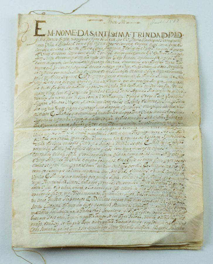 Pergaminho Alcobaça – 1589