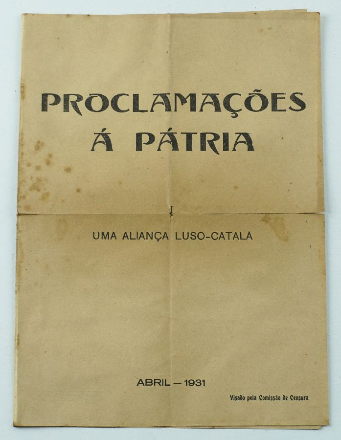 Rara obra de Mário Saa – Proclamação á Pátria