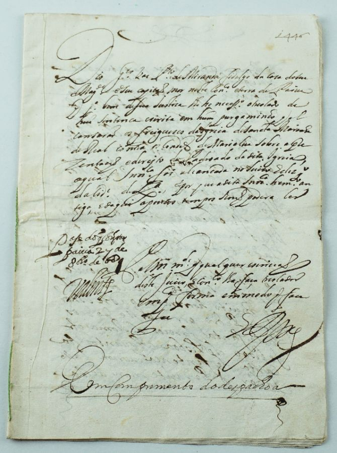 Manuscrito contenda Condes de Marialva 1446 -1689
