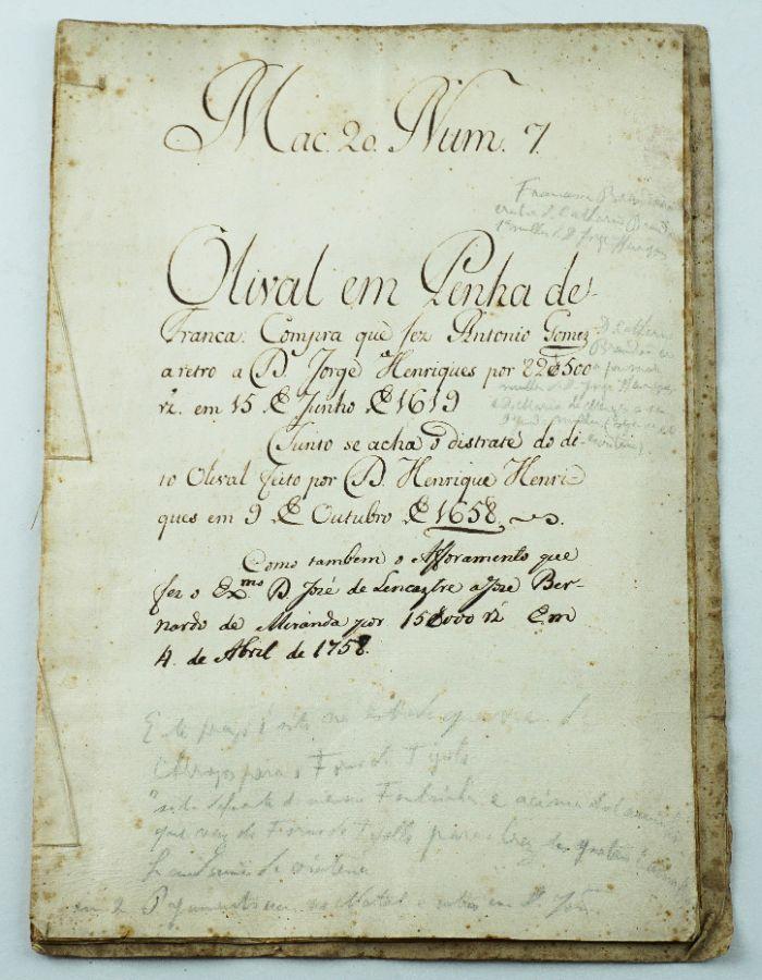 Manuscrito de compra Lisboa Penha de França, 1619