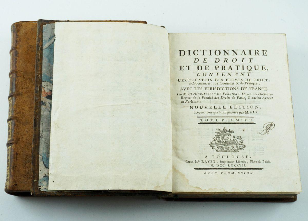 Dictionnaire de droit et de pratique -1779
